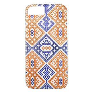 Blue Orange + White Textile Team Sports Colors iPhone 7 Case