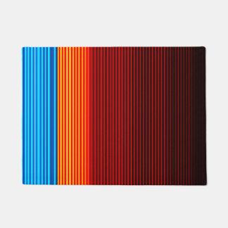 Blue Orange Yellow Red Black Stripes Doormat