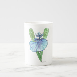 Blue Orchid China Mug Floral Botanical Nature