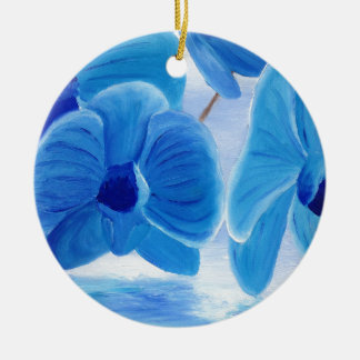 Blue Orchid elegant classy sophisticated joy Ceramic Ornament