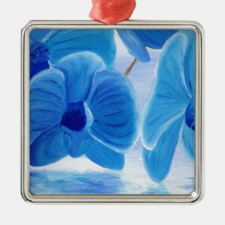 Blue Orchid elegant classy sophisticated joy Metal Ornament