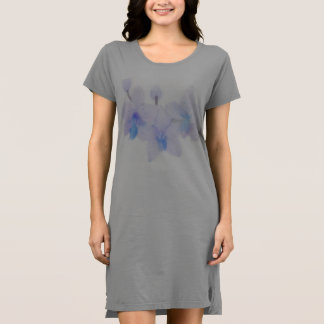 Blue Orchid T shirt Dress