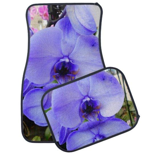 Blue Orchids Floor Mat