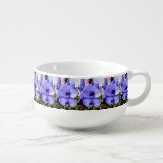 Blue Orchids Soup Mug
