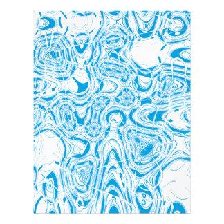 Blue organic abstract custom flyer