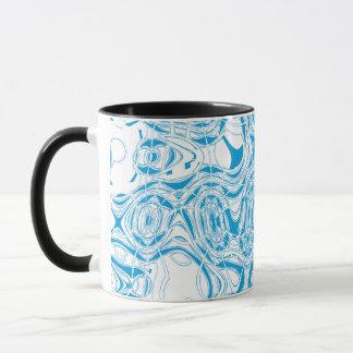 Blue organic abstract mug