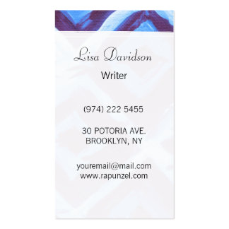 Blue organic iKat Pack Of Standard Business Cards