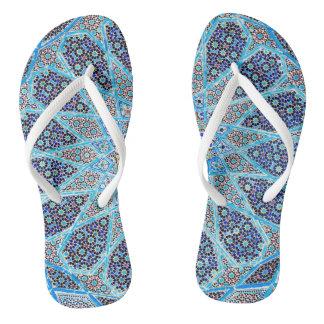 Blue Orient Flip Flops