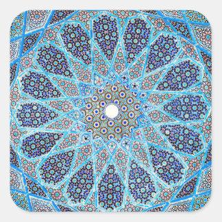 Blue Orient Square Sticker