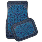 Blue Oriental Rug Look Car Mat Set