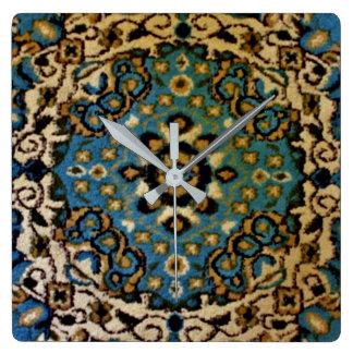 Blue Oriental Rug Wall Clocks