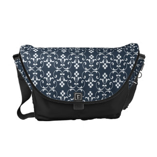 Blue ornamental Pattern Courier Bags