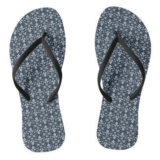Blue ornamental Pattern Flip Flops