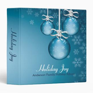 Blue Ornaments Holiday Joy Vinyl Binders