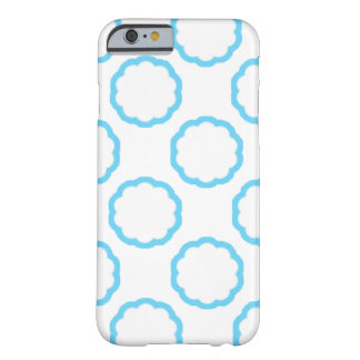 Blue Outlined Floral Phone Case