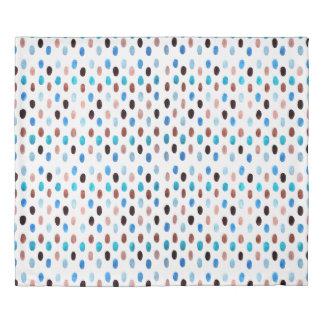 Blue Ovals Duvet Cover