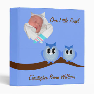 Blue Owl Baby Book 3 Ring Binders