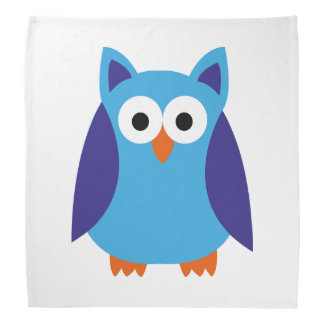 Blue owl cartoon bandana