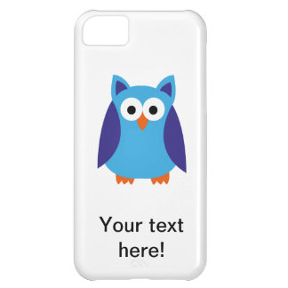 Blue owl cartoon cover for iPhone 5C