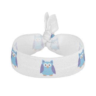 Blue owl cartoon elastic hair ties
