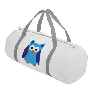 Blue owl cartoon gym bag