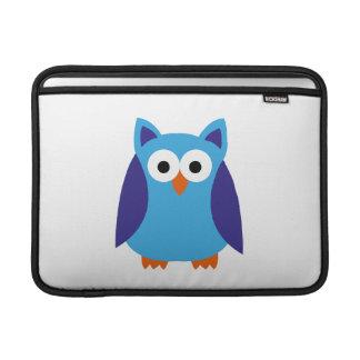 Blue owl cartoon MacBook sleeves