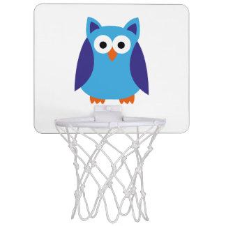 Blue owl cartoon mini basketball hoop