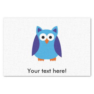 Blue owl cartoon tissue paper