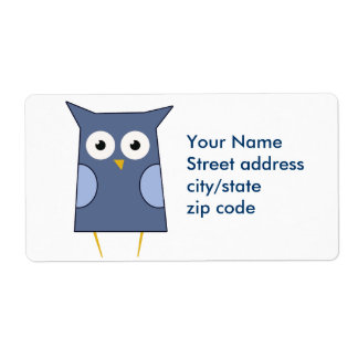 Blue Owl Shipping Labels