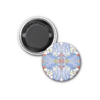 Blue Owl Mandala 1 Inch Round Magnet