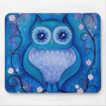 blue owl mouse pad