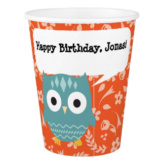 Blue Owl Personalized Paper Party Cup Paper Cup