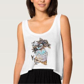 Blue Owl Tank Top