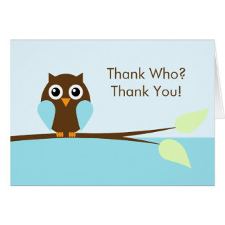 Blue Owl Thank You Cards