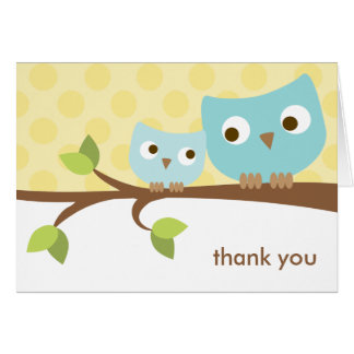 Blue Owls Note Card