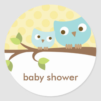Blue Owls Stickers