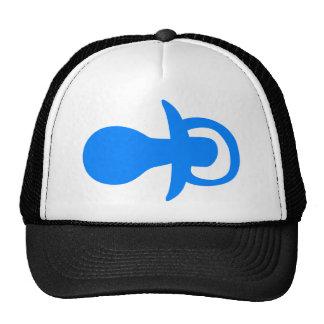 Blue pacifier. trucker hat