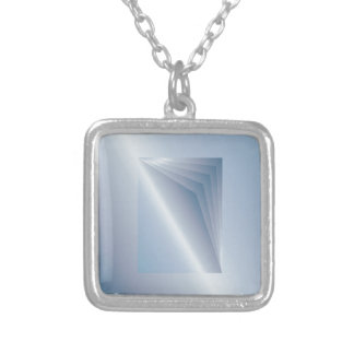 blue pages silver plated necklace