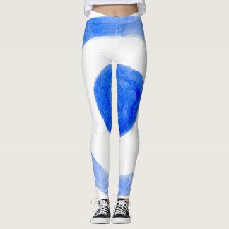 Blue Paint Bullseye Leggings