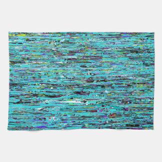 Blue Paint Drips Kitchen Towel
