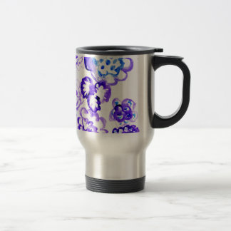 Blue Paint Strokes4 Travel Mug