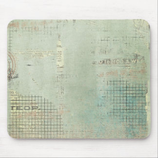 blue paint vintage Newspaper STamped collage Mousepads