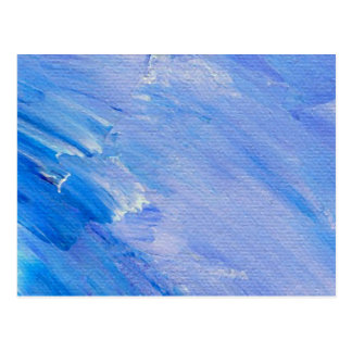 Blue Painted Abstract Customizable Design Postcard