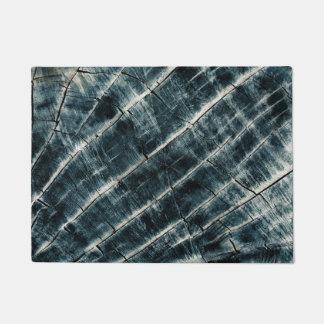 Blue Painted Wood Doormat