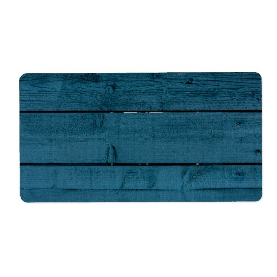 Blue painted wood planks shipping label