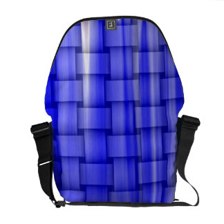 Blue painting art graphic design messenger bag