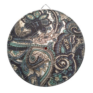Blue Paisley All Over Dartboard