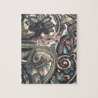 Blue Paisley All Over Jigsaw Puzzle
