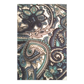 Blue Paisley All Over Stationery Design