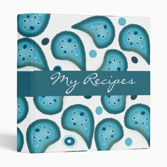Blue Paisley Favourites Recipe Binder